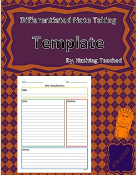 Differentiated Note Taking Template