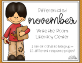 Differentiated November Write the Room Center