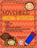 November Writing Activities