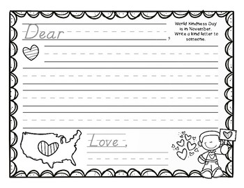Differentiated November Writing Journal- K and 1st