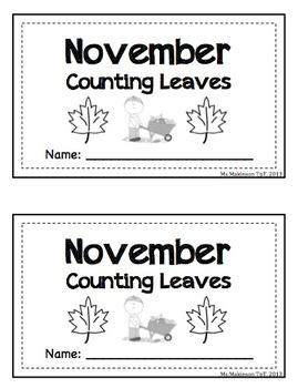 November/Leaf Themed - Interactive Math Reader