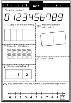 Differentiated Number Activity Sheets + IWB Lesson Bundle. 1-10
