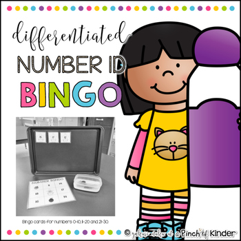 Differentiated Number ID Bingo: 0-10, 11-20, 21-30