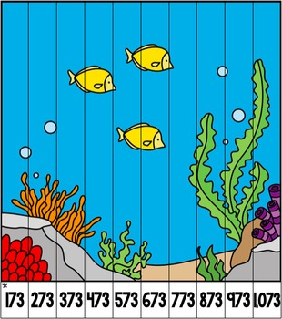 Differentiated Number Pattern Puzzles - Ocean Theme
