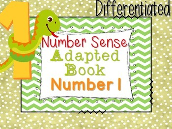 Differentiated Number Sense Adapted Book (Number 1)