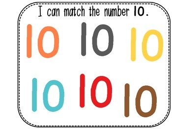 Differentiated Number Sense Adapted Book (Number 10)