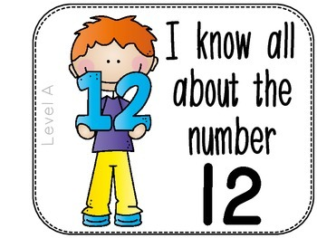 Differentiated Number Sense Adapted Book (Number 12)