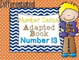 Differentiated Number Sense Adapted Book (Number 13)