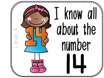 Differentiated Number Sense Adapted Book (Number 14)