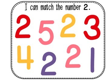 Differentiated Number Sense Adapted Book (Number 2) #spedgivesthanks