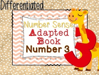 Differentiated Number Sense Adapted Book (Number 3)