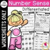 Differentiated Number Sense Worksheets to 120: First Grade CCSS-Aligned