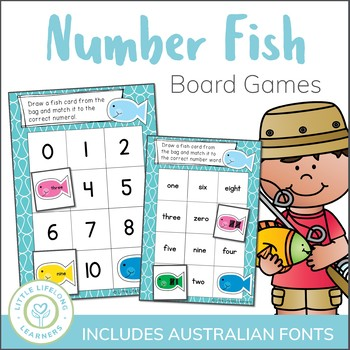 Differentiated Fish Themed Number Sense Board Games - Numb