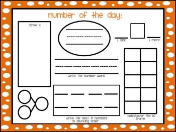 Differentiated Number of the Day Mats: First Grade Common Core