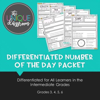 Differentiated Number of the Day Packet for Intermediate Grades