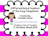 Differentiated Number of the Day Templates
