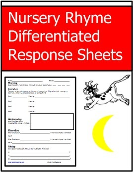 Differentiated Nursery Rhyme Response Sheet