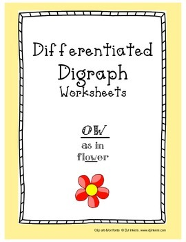Differentiated Digraph Worksheets: ow