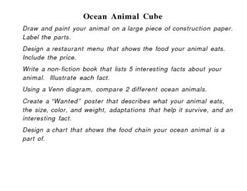 Differentiated Ocean Thematic Unit Activities