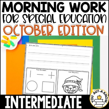 Special Education Morning Work: October Edition {Differentiated for 3 Levels!}