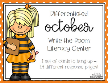 Differentiated October Write the Room Center