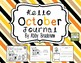 Differentiated October Writing Journal- K and 1st Grade