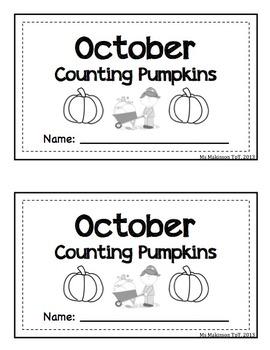 October/Pumpkin Themed - Interactive Math Reader