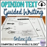 Differentiated Opinion Text/Persuasive Writing Study Guide
