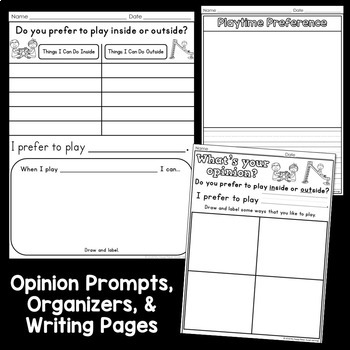 Opinion Writing for Kindergarten and First Grade - Differentiated