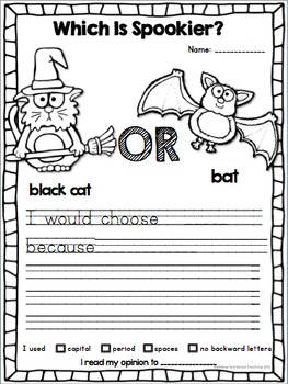 Differentiated Opinion Writing: Halloween