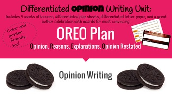 Differentiated Opinion Writing Unit