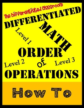Differentiated Order of Operations