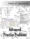 Differentiated Order of Operations Practice
