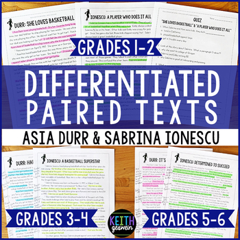 Differentiated Paired Texts: Asia Durr and Sabrina Ionescu (Grades 1-6)