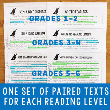 Differentiated Paired Texts: Chloe Kim and Shaun White (Grades 1-6)