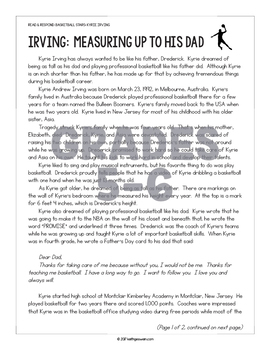 Differentiated Paired Texts: Kyrie Irving and Kawhi Leonard (Grades 1-6)