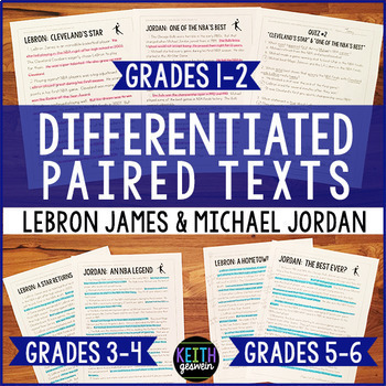 Differentiated Paired Texts: LeBron James and Michael Jordan (Grades 1-6)