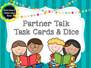 Differentiated Partner Talk Dice and Task Cards