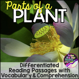 Differentiated Parts of a Plant Reading Passage, Parts of
