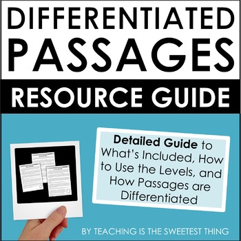 Differentiated Passages: FREE Resource Snapshot