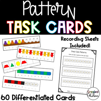 Differentiated Pattern Task Cards with Math Manipulatives