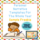 Differentiated Personal Narrative Templates For The Whole Year Sample Freebie