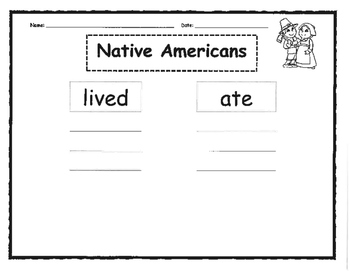 Differentiated Pilgrims & Native American Tree Maps