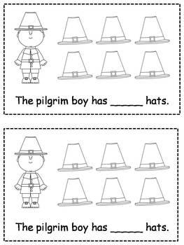 Differentiated Pilgrim Thanksgiving Emergent Readers