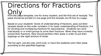 Differentiated Pizza Fractions and Decimals