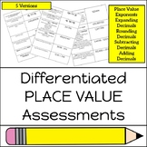 Differentiated Place Value Assessment
