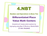 Differentiated Place Value Base Ten  Math Centers 4th Grade 4.NBT CCSS