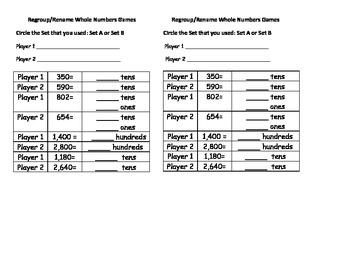 Differentiated Place Value Base Ten  Math Centers 4th Grade 4.NBT CCSS