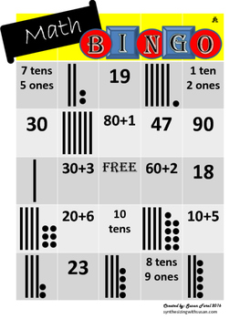 Differentiated Place Value Bingo