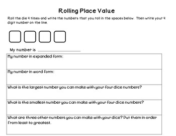 Differentiated Place Value Center